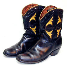 50% OFF  Cowboy Boots ACME CUTOUT PEEWEE  Drk Brown &Yellow Size 71/2 D
