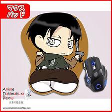 New 3D Anime Japanese Mousepad AOT Levi Ackerman Sexy Butt Wrist Rest