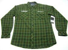 New Troy Lee Designs Flannel Button Shirt Men's Dunlop Motorcycles Tires Plaid M