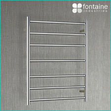 Paris Heated Towel Rail Large NEW Plug Hardwired Stainless Steel 240V AC Ladder