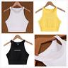 Irregular Fashion Women Halter Sleeveless Vest Crop Top camisole Tank top Shirt