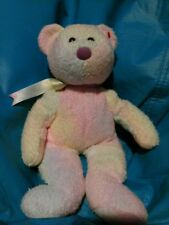 TY Beanie Buddy Bear in tie-dye pastels 13 inches tall
