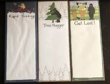 Lot of 3 NEW Nature Notepads Shopping List Magnetic Hatley Canada NIP