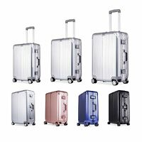 20''24''28'' Aluminum TSA Lock Wheel Rolling Luggage Trolley Suitcase Travel Bag