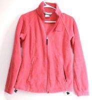 COLUMBIA Women's Fleece Long Sleeve Full Zip Pink Jacket Size Small