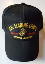 U.S. MARINE CORPS WOMAN VETERAN PROUDLY SERVED Military Ball Cap