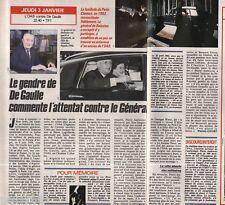 Coupure de presse Clipping 1991 Général de Boissieu gendre de Gaulle (1 page1/2)