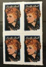 I Love Lucy Lucille Ball mint self-adhesive block 4 of stamps 2001 USA #3523