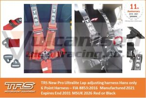 TRS New Pro Ultralite endurance 6 Point FHR GT Car Race Harness (not Sparco/OMP)
