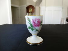 Meissen Pink Rose Egg Cup with Gold Trim Mark From 1934 Blue Cross Sword Mark