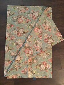Ralph Lauren Charlotte Rose Floral Flat Sheet Full 100% Cotton