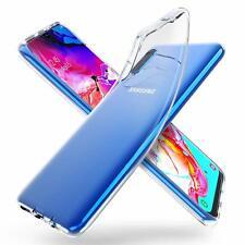 For Samsung Galaxy A70 Case Clear Silicone Slim Gel Cover & Stylus Pen