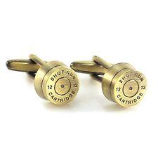 New Antique 12 Shotgun Cartridge Cufflinks Bullet Cartridge Cufflink In Box 0661