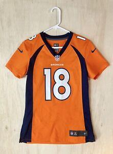 Peyton Manning #18 Denver Broncos Orange Home Game Jersey Unisex Youth Small