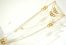 18K Gold Yellow Solid Roberto Coin Necklace 5 Stations 36 inch LONG NEW $2445