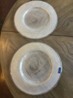 Villeroy Boch Verona Glass Charger Clear Set Of 2