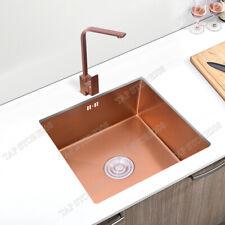 Copper  Stainless Steel Handmade Undermount Kitchen Sink with Strainer - Sink