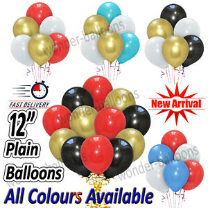"30X 12"" Latex PLAIN BALLOONS BALLONS helium Quality Party Bday Color BALOON UK"