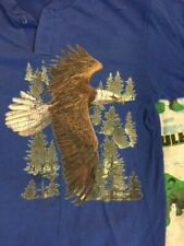 Vintage 90's Bald Eagle Indian Native American Button t shirt M