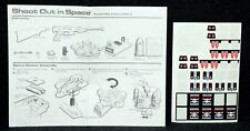 Tomy Toys 1978 Shoot Out in Space Laser Game Space Station Instructions Decals