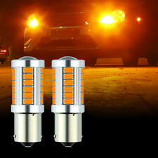 1 Pair Amber Yellow BAU15S PY21W No Error 5630 1156 LED Turn Signal Light Bulbs