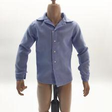 1/6 Men T-Shirt Male Clothes for 12'' HT Phicen Kumik Figure Body Doll Blue
