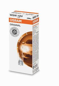 10X W5W Standlicht T10 5W Glassockel Osram Birne Stück Original Lampen 2825 12V
