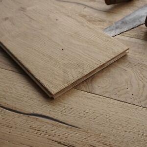 22CM Distressed Authentic Oak Wood Flooring - Engineered Boards Loft Style ECU3