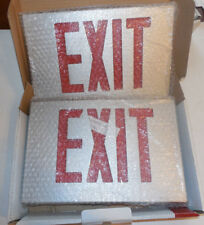 New Navilite Aluminum Exit Sign NXDB2RBAB Red Double Face Battery Backup