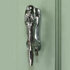 New Bright Chrome Running Fox Door Knocker - 14cm x 3cm