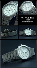 TITANO-DAMEN FLIEGER TITAN CHRONOGRAPH UHR 5 BAR WASSERDICHT NEU