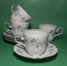 Johann Haviland Bavaria Germany Cup and Saucer Set of 4