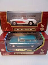 Collectors Edition Diecast Cars 1957 Chevy Corvette & Chevy Nomad New c
