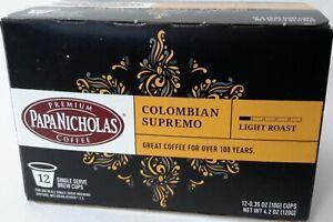 PAPA NICHOLAS COLOMBIAN SUPREMO LIGHT ROAST COFFEE, 12 SINGLE BREW CUPS, 4.2 OZ