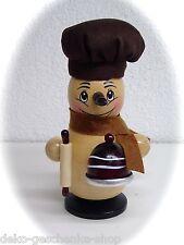 Fumador Muñeco de nieve con cocina y gorro tejido Figura Humeante 14cm 40208
