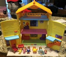 Fisher Price 2009 Playset Dora Explorer Dollhouse. Comes With 6 Figures!