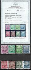 Bund Mi. Nr. 179 y - 260 y Lumogen Fotoattest - Kopie Vollstempel Jahrgang 1960