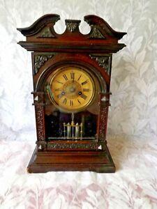 ANTIQUE RARE BADISCHE MUSICAL COTTAGE CLOCK 30hr. Full Working order Circa 1900
