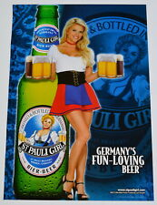 "ST PAULI GIRL Poster Lisa Dergan 2003, 27"" x 19"" Germany's Fun Loving Beer"