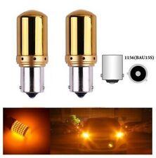 BAU15S PY21W LED 145 SMD Ampoules Canbus Chrome Orange Clignotants pour Voiture