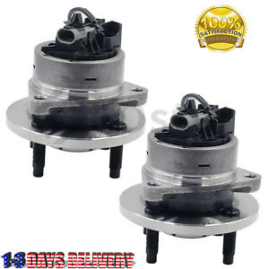 Pair(2) Wheel Hub and Bearing Assembly Fits Chevy Cobalt G5 Lon 4 Lug w/ABS