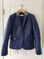 EUC! Vineyard Vines size S Quilted Puffer Jacket Blazer Womens Blue MSRP $248