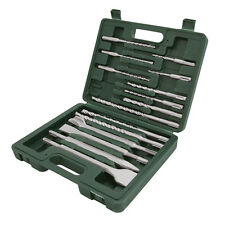 15pce Set SDS Plus Masonry Drill , Chisels and Points SDS + Breaker, Drilling