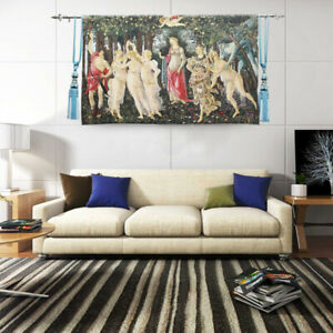 """European Renaissance tapestry Fabric soft murals Wall  famous painting """"Spring"""""""