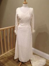 Chiffon V Neck Long Sleeve Column/Sheath Wedding Dresses
