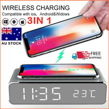 Wireless Charging Alarm Clock LED Digital Alarm Clock with QI Wireless Chargers