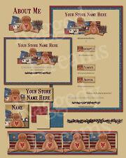 PRIM AMERICANA GINGERBREAD Complete Ebay Store Design
