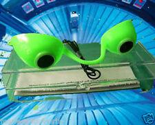 Lunettes de bronzage anti UV pour appareil solarium LUNA tanning goggle VERT