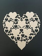 Wooden Heart Plaque Craft Mothers Day Birthday Gift Wedding