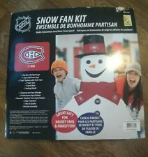 NHL Montreal Canadiens Snow Fan Kit Build a Snowman, show your pride.